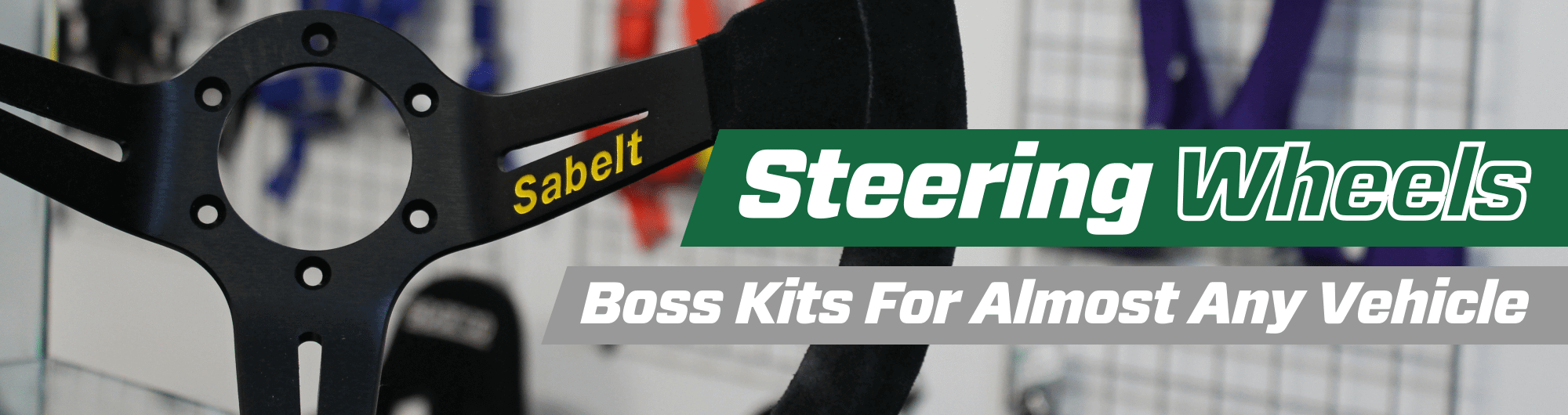 Steering Wheels – Boss Kits For Almost Any Vehicle – www.gsmotorsport.co.uk Hero Image – October 2017